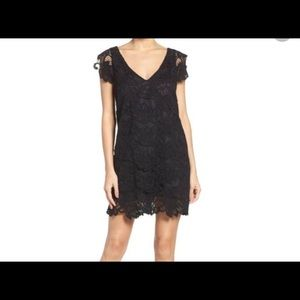 NWT BB Dakota Black Lace Shift Dress - Size XS